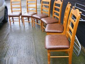 Set of 6 dining table chairs