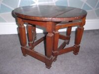 Vintage Solid Oak Coffee Table