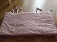 Cot bumper- mesh breathable /cot bumper double sided padded
