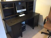 Large IKEA desk in dark wood for sale!