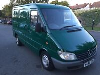 2001 Mercedes Sprinter 208 2.2 Cdi Diesel SWB 3 Front Seater ROAD TAX and MOT(vito vivaro transit)