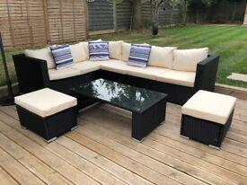 Large Garden Rattan Sofa Set - 3 Weeks old £450.00