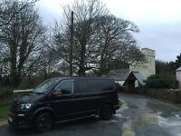 Vw transporter 2.0 Combi van T28 genuine 24k miles black pearl Sportline No Vat