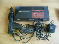 SEGA MASTER SYSTEM POWERBASE CONSOLE WITH GUN AND CONTROLLER