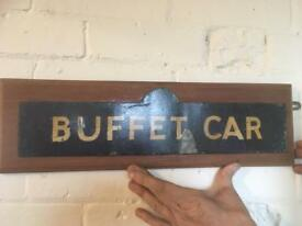 Buffet car sign