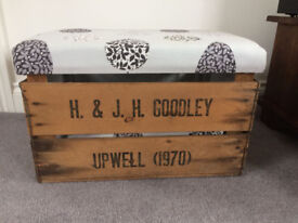 Foot Stool/storage box - upholstered - excellent condition