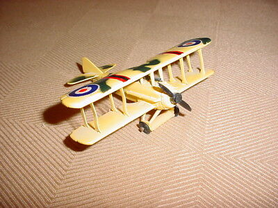 BRITISH YELLOW BI=PLANE AIRPLANE MODEL AIRCRAFT USED