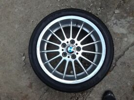"""BMW 5 series 7 series e38, e39 genuine 18"""" alloy front with tyre 1091991"""