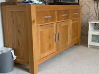 Next solid oak sideboard unit rrp £799
