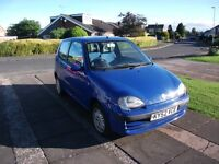 2002 FIAT SEICENTO 1.1cc BLUE 12 MONTH M.O.T.