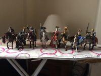 Schleich knights on horses
