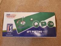 PGA putting mat