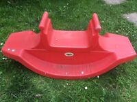 Seesaw for three! Toddler garden toy
