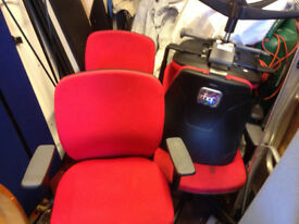 office chair red adjustable arm and heigth