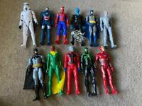 11 Superhero figures
