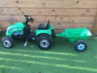 Kids outdoor toy tractor