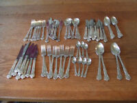 Country Plate Aurthur Price Silver plated complete cuttlery set.