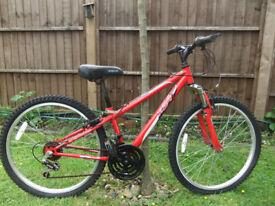 "Apollo Boys/Girls Bike 24"" wheels 12"" frame 18 gears"