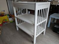 White Ikea Baby Changing Table (Gulliver) H93cm x W82cmxD54cm