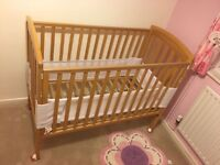 Mothercare Cot with John Lewis Mattress