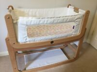 Snuzpod Bedside Crib (Natural) in great condition