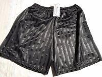 10x Pairs Football Shorts Precision Training Black Striped Size 30/32 BNWT Sealed