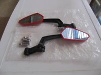 MOTORCYCLE MIRRORS (NEW) 8MM OR 10MM THREAD