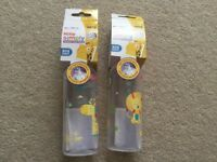 2 Nuby baby bottles 0+ months NEW