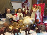 Christmas decorations - includes baubles, free standing wooden effect angels and boxed fairy