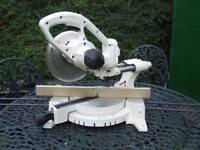 24 Volt cordless sliding compound mitre saw
