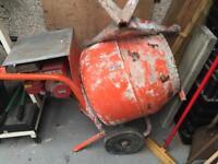 Petrol cement mixer