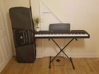 Korg SP-170S Keyboard with Kaces case and Stand!