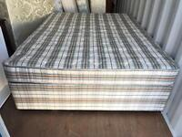 Kingsize Divan Bed Base 2 Draws and Mattress