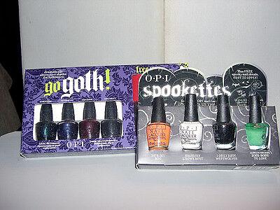 Halloween Nail Polish Set (2x OPI HALLOWEEN Mini Sets **GO GOTH! & SPOOKETTES** Nail)