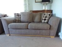 Brown 2-seater sofa