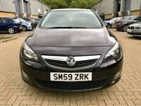 VAUXHALL ASTRA 1.6 i VVT 16v SRi MANUAL 5 DOORS 2010 (59 reg)