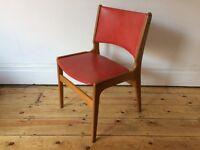 Vintage Retro Danish Kitchen Dining Chair 1950s Erik Buck Mid Century