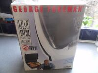 NEW - White George Foreman Lean Mean Fat Reducing Grilling Machine with Bun Warmer - Bargain £10!