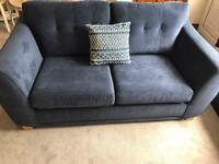 DFS Diego Two Seater Sofa RRP£1300 Navy
