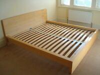 **** King Size- Malm Bed - Oak veneer - 180x200 cm - As New****