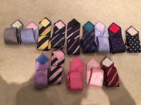 Ties (genuine TM Lewin silk) for sale