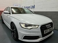 APRIL 2013 AUDI A6 S-LINE 2.0 TDI 175BHP 6-SPEED STOP/START GLACIER WHITE STUNNING EXAMPLE !