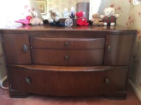 One Single and one double 1950's Wardrobes and one 1950's dresser for sale
