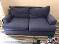 Blue two seater sofa - FREE IF COLLECTED BY FRIDAY 24/03