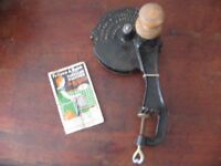 Vintage Follows & Bate's Marmalade Machine - handle missing, has instructions.