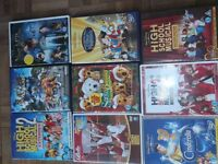 9 DVD'S' CINDERELLA AND OTHERS