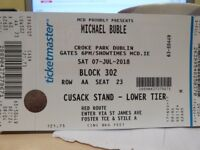 Michael Buble at Croke Park. Genuine enquiries only. Having to re-advertise.
