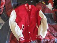 Vintage 90's Red 'Molson Super Dry' Award Jacket/Varsity/Letterman - MEN'S EXTRA LARGE