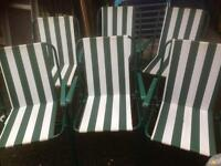 Set of 6 garden chairs