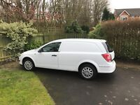 White Vauxhall Astra van 8470 miles. Very clean inside and out.